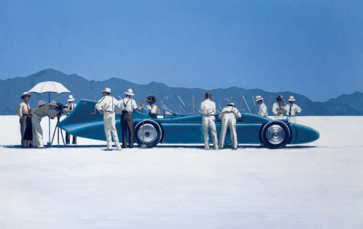 © Jack Vettriano - Bluebird at Bonneville